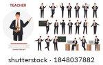 teacher man poses vector... | Shutterstock .eps vector #1848037882