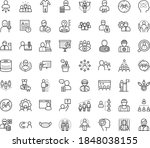 thin outline vector icon set... | Shutterstock .eps vector #1848038155
