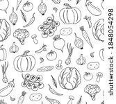 seamless pattern of vegetable... | Shutterstock .eps vector #1848054298