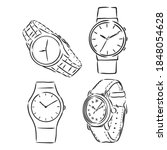 men's mechanical watch isolated ...   Shutterstock .eps vector #1848054628