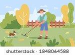 garden autumn work vector... | Shutterstock .eps vector #1848064588