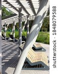 Design Benches In A Park With A ...