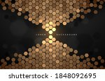 abstract black and gold... | Shutterstock .eps vector #1848092695