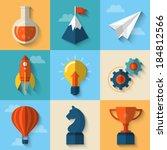 flat design modern vector...   Shutterstock .eps vector #184812566