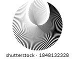 abstract halftone lines circle... | Shutterstock .eps vector #1848132328