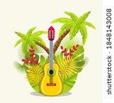 guitar vector illustration....   Shutterstock .eps vector #1848143008