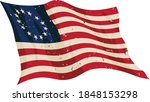 waving aged betsy ross flag... | Shutterstock .eps vector #1848153298