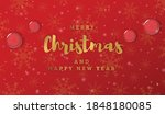 merry christmas and happy new... | Shutterstock .eps vector #1848180085