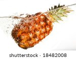water and pineapple | Shutterstock . vector #18482008