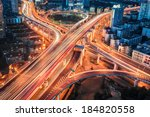 closeup of the modern city... | Shutterstock . vector #184820558