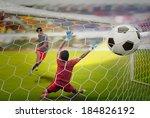 goal highlight   shooting shot...   Shutterstock . vector #184826192