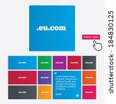 domain eu.com sign icon.... | Shutterstock . vector #184830125