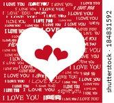 love heart | Shutterstock .eps vector #184831592