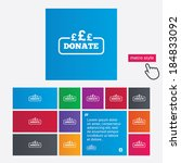 donate sign icon. pounds gbp... | Shutterstock . vector #184833092