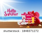 summer vector background design.... | Shutterstock .eps vector #1848371272