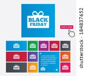 black friday gift sign icon.... | Shutterstock . vector #184837652