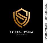 shield letter s logo template... | Shutterstock .eps vector #1848380032