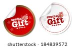 special gift stickers | Shutterstock .eps vector #184839572