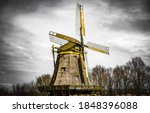 Windmill on a gloomy autumn day....