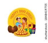 celebrating bhai dooj during... | Shutterstock .eps vector #1848419755