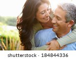 loving hispanic couple in... | Shutterstock . vector #184844336