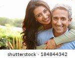 portrait of loving hispanic... | Shutterstock . vector #184844342