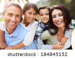 portrait of hispanic family in... | Shutterstock . vector #184845152