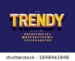 stylized trendy alphabet font...   Shutterstock .eps vector #1848461848