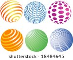 a set of spheres with colorful... | Shutterstock .eps vector #18484645
