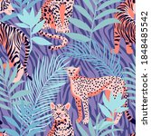 seamless pattern with african... | Shutterstock .eps vector #1848485542