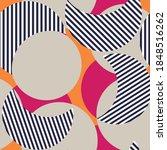 seamless floral vector circle... | Shutterstock .eps vector #1848516262