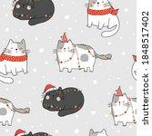 draw seamless pattern... | Shutterstock .eps vector #1848517402