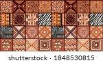 ethnic trend pattern. paintwork ... | Shutterstock .eps vector #1848530815