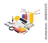 wealth management isometric... | Shutterstock .eps vector #1848533155