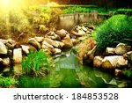 Landscaped Garden With Pond....