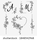 set of decorative frame and... | Shutterstock .eps vector #1848542968