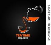 tea cup design menu background | Shutterstock .eps vector #184856498