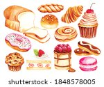 vintage bakery and pastry water ... | Shutterstock .eps vector #1848578005
