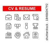cv and resume icon set....