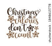 christmas calories don't count  ... | Shutterstock .eps vector #1848615778