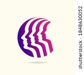 human head thinking a new idea  ... | Shutterstock .eps vector #1848630052
