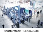 trade show generic background ... | Shutterstock . vector #184863038