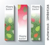 happy easter greeting banners.... | Shutterstock .eps vector #184864166