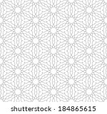geometric seamless pattern.   | Shutterstock .eps vector #184865615