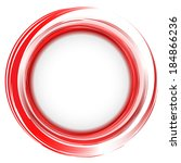 vector. round frame. red... | Shutterstock .eps vector #184866236