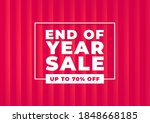 end of year sale banner. red... | Shutterstock .eps vector #1848668185