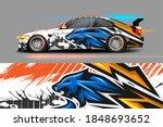 vehicle vinyl wrap design with...   Shutterstock .eps vector #1848693652