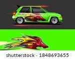 vehicle vinyl wrap design with...   Shutterstock .eps vector #1848693655