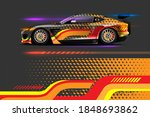 vehicle vinyl wrap design with...   Shutterstock .eps vector #1848693862