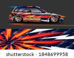 car livery design with sporty...   Shutterstock .eps vector #1848699958